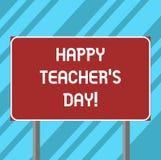 Textzeichen, das glücklichen Lehrer S Is Day zeigt Begriffsfotogeburt zweite Präsident India verwendet, die Meister zu feiern lee lizenzfreie abbildung
