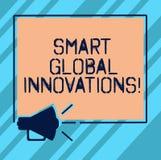 Textzeichen, das intelligente globale Innovationen zeigt Begriffsfotofähigkeit von den Unternehmen, zum neuen Gelegenheiten Megap vektor abbildung
