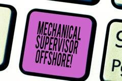 Textzeichen, das in Küstennähe mechanische Aufsichtskraft zeigt Begriffsfoto die Reparatur- und Installationsarbeit Taste Absicht lizenzfreie abbildung