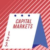 Textzeichen, das Kapitalm?rkte zeigt Begriffsfoto lassen Geschäfte Kapitalien aufbringen, indem es die moderne Marktsicherheit zu lizenzfreie stockfotos