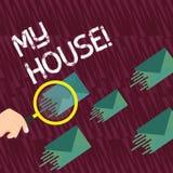 Textzeichen, das mein Haus zeigt Begriffsfotoplatz, den Sie bequem glauben können, Leben kochend und beim Vergrößern schlafend vektor abbildung