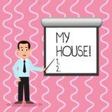 Textzeichen, das mein Haus zeigt Begriffsfotoplatz, den Sie bequem glauben können, Leben kochend und im Mann herein schlafend vektor abbildung