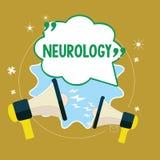 Textzeichen, das Neurologie zeigt Begriffsfoto Gebiet der Medizin beschäftigend Störungen des Nervensystems stock abbildung
