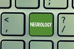 Textzeichen, das Neurologie zeigt Begriffsfoto Gebiet der Medizin beschäftigend Störungen des Nervensystems lizenzfreies stockbild