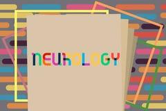 Textzeichen, das Neurologie zeigt Begriffsfoto Gebiet der Medizin beschäftigend Störungen des Nervensystems lizenzfreie abbildung