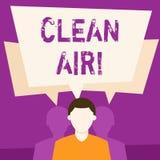 Textzeichen, das reine Luft zeigt Begriffsfoto, das in bestimmten Bereichen brennen irgendeinen Brennstoff verbietet, der den ges vektor abbildung