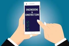 Textzeichen, das Technik und Bau zeigt Begriffsfoto, das Fachkenntnisse an der Infrastruktur HU anwendet vektor abbildung