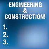 Textzeichen, das Technik und Bau zeigt Begriffsfoto, das Fachkenntnisse an der Infrastruktur undeutlich anwendet lizenzfreie abbildung