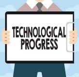 Textzeichen, das technologischen Fortschritt zeigt Begriffsfoto Gesamtprozeß der Erfindungs-Innovations-Diffusion lizenzfreie abbildung