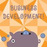 Textzeichen, das wirtschaftliche Entwicklung zeigt Begriffsfoto, das strategische Gelegenheiten f?r ein bestimmtes Gesch?ft aus?b stock abbildung