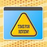 Textzeichen, das Zeit für Bericht zeigt Begriffsfoto Bewertungs-Feedback-Moment Perforanalysisce Rate Assess lizenzfreie abbildung