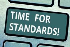 Textzeichen, das Zeit für Standards zeigt Begriffsfotospezifikation für messende entweder Rate oder Punkte Taste vektor abbildung