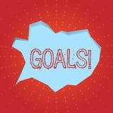 Textzeichen, das Ziele zeigt Begriffsfoto wünschte Leistungen anvisiert, was Sie in der Zukunft vollenden möchten lizenzfreie abbildung