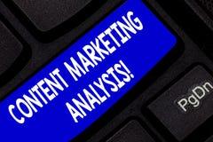 Textzeichen, das zufriedene Marktanalyse zeigt Begriffsfotofokus auf dem Erregen von Aufmerksamkeit und Führungen Tastatur erzeug stockfotos