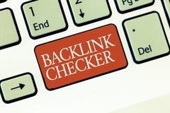 Textzeichen, das zurück Link Kontrolleur zeigt Begriffsfoto finden Ihre Konkurrenten die wertvollste und Stellenmuster stockbilder