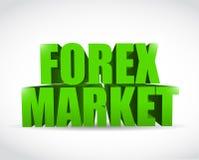 Textzeichen-Illustrationsdesign des Devisenmarktes 3d Stockfotos