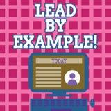 Textzeichen-Vertretung Führung durch Beispiel Begriffsfoto Führungs-Management-Mentor-Organisation vektor abbildung