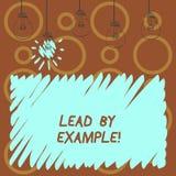 Textzeichen-Vertretung Führung durch Beispiel Begriffsfoto Führungs-Management-Mentor-Organisation stock abbildung