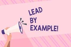 Textzeichen-Vertretung Führung durch Beispiel Begriffsfoto werden Sie, demonstrierend andere, möchten für Ihre Aktionen folgen vektor abbildung