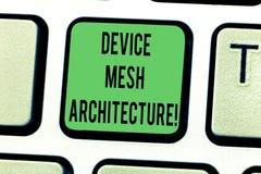 Textzeichen-Vertretung Gerät Mesh Architecture Begriffsfoto Digital-Geschäftstechnologieplattform-Koordination Tastatur stockbilder