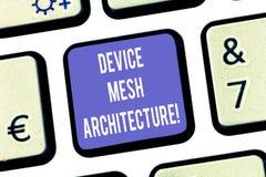 Textzeichen-Vertretung Gerät Mesh Architecture Begriffsfoto Digital-Geschäftstechnologieplattform-Koordination Tastatur lizenzfreie abbildung