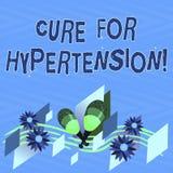 Textzeichen-Vertretung Heilung für Bluthochdruck Begriffsfoto, das Behandlung erhält, um den Blutdruck zu senken bunt stock abbildung