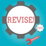 Textzeichen-Vertretung Revisionsbogen Begriffsfoto prüfen etwas nach, es zu verbessern zu wiederholen vektor abbildung
