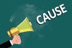 Textzeichen-Vertretung Ursache Begriffsfoto Person Thing, das ein Aktionsphänomen und -zustand verursacht lizenzfreie abbildung