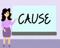 Textzeichen-Vertretung Ursache Begriffsfoto Person Thing, das ein Aktionsphänomen und -zustand verursacht vektor abbildung
