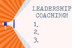 Textzeichen, welches die Führungs-Anleitung zeigt Ist Begriffsfoto individualisierter Prozess, der einen Führer s errichtet, Fähi lizenzfreie abbildung