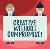 Textzeichendarstellen kreativ ohne Kompromiss Begriffsfoto ein Maß des Goodwills und des kleinen Originalität Mannes und lizenzfreie abbildung