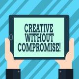 Textzeichendarstellen kreativ ohne Kompromiss Begriffsfoto ein Maß Goodwill und wenig Originalität HU-Analyse vektor abbildung