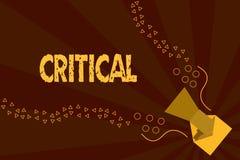 Textzeichendarstellen kritisch Begriffsfoto, das nachteilige Missbilligungskommentarurteile Enttäuschung ausdrückt vektor abbildung