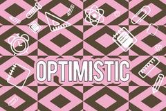 Textzeichendarstellen optimistisch Begriffsfoto hoffnungsvoll und überzeugt hinsichtlich des zukünftigen positiven Denkens lizenzfreie abbildung