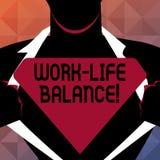 Textzeichenvertretung Arbeits-Leben-Balance Begriffsfoto Zeiteinteilung zwischen Funktion oder Familie und Freizeit lizenzfreie abbildung