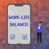 Textzeichenvertretung Arbeits-Leben-Balance Begriffsfoto Zeiteinteilung zwischen Funktion oder Familie und Freizeit stock abbildung