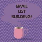 Textzeichenvertretung E-Mail-Listen-Gebäude E stock abbildung