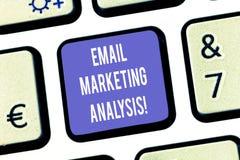 Textzeichenvertretung E-Mail-Marktanalyse Begriffsfoto, welches das Senden von Mitteilungen zu Kunde Taste Absicht überprüft vektor abbildung