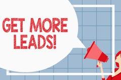 Textzeichenvertretung erhalten mehr Führungen Begriffsfotoanfangsverbraucherinteresse oder Untersuchungsprodukte oder -dienstleis vektor abbildung