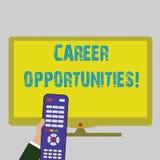 Textzeichenvertretung Karriere-Gelegenheiten Begriffsfoto eine Möglichkeit oder eine Situation des Habens einer Jobbeschäftigun vektor abbildung