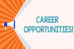 Textzeichenvertretung Karriere-Gelegenheiten Begriffsfoto eine Möglichkeit oder eine Situation des Habens eines Jobbeschäftigun vektor abbildung