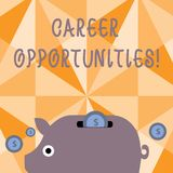 Textzeichenvertretung Karriere-Gelegenheiten Begriffsfoto eine Möglichkeit oder eine Situation des Habens Jobbeschäftigung bunt lizenzfreie abbildung