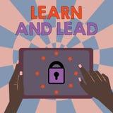 Textzeichenvertretung lernen und führen Begriffsfoto verbessern die Fähigkeiten und das knowleadge, um für die Führung zu passen lizenzfreie abbildung