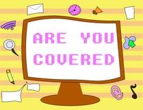 Textzeichenvertretung sind Sie bedeckte Begriffsfoto, das fragt nach, wie Medikationen durch Ihren Plan abgedeckt werden stock abbildung