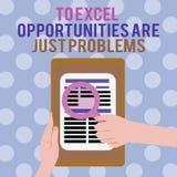 Textzeichenvertretung zu Excel-Gelegenheiten sind gerade Probleme Begriffsfoto Kuschelecke befürchten die Außenwelt stock abbildung