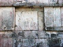 Texure di pietra quadrato Mayan Fotografia Stock