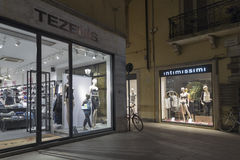 Tezenis and Intimissimi lingerie stores in Rimini, Italy. Royalty Free Stock Photo