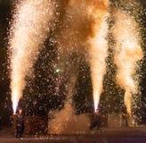 Tezutsu Hanabi (festival tenuto in mano dei fuochi d'artificio) immagine stock