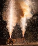 Tezutsu Hanabi (festival tenuto in mano dei fuochi d'artificio) immagini stock