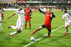 tfc för fotboll för galaxlamls vs Royaltyfria Foton